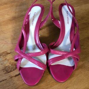 Pink Slip In Strappy Heels!